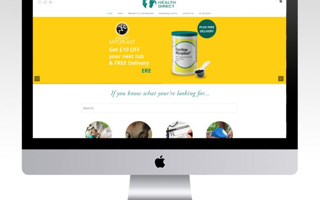 Equine Health Direct eCommerce Website portfolio