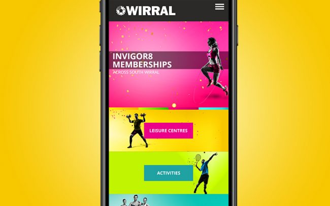 Wirral Leisure Branding portfolio
